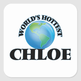 World's Hottest Chloe Square Stickers