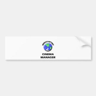 World's Hottest Cinema Manager Bumper Sticker