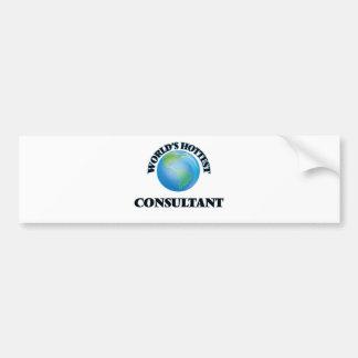 World's Hottest Consultant Bumper Stickers