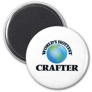 World's Hottest Crafter 6 Cm Round Magnet