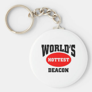 World's Hottest Deacon Basic Round Button Key Ring