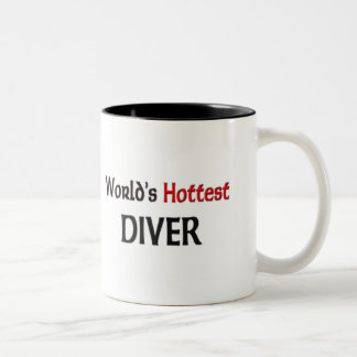 Worlds Hottest Diver Two-Tone Coffee Mug
