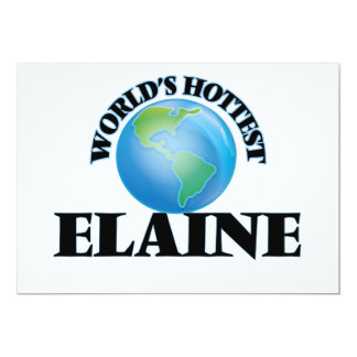 World's Hottest Elaine Invitations