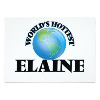World's Hottest Elaine 13 Cm X 18 Cm Invitation Card