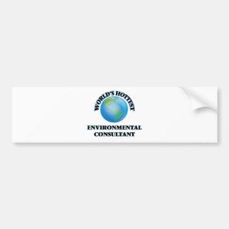 World's Hottest Environmental Consultant Bumper Sticker