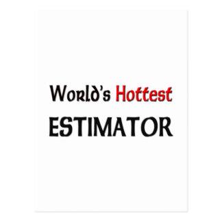 Worlds Hottest Estimator Postcard