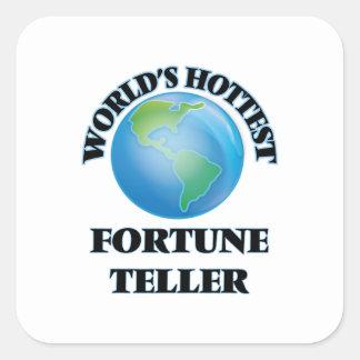 World's Hottest Fortune Teller Square Sticker