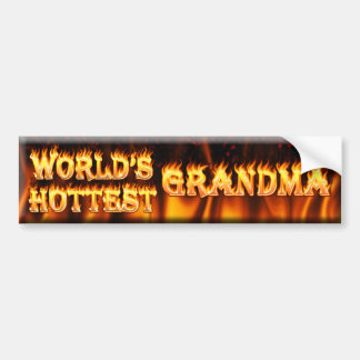 worlds hottest grandma bumper stickers