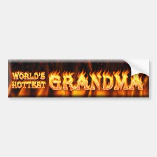 worlds hottest grandma car bumper sticker