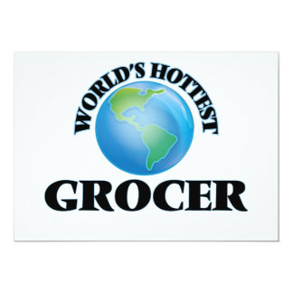 "World's Hottest Grocer 5"" X 7"" Invitation Card"