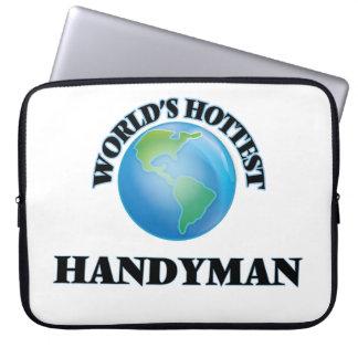World's Hottest Handyman Laptop Computer Sleeve