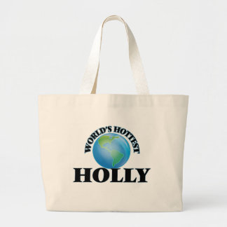 World's Hottest Holly Canvas Bag