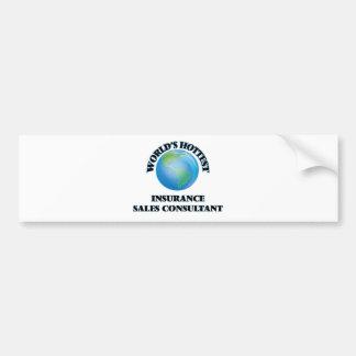 World's Hottest Insurance Sales Consultant Bumper Sticker