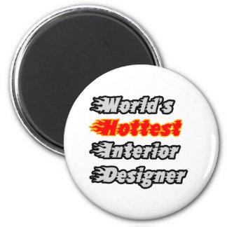 World's Hottest Interior Designer Refrigerator Magnets