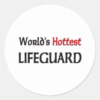 Worlds Hottest Lifeguard Classic Round Sticker