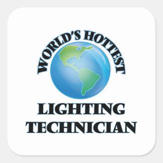 World's Hottest Lighting Technician Square Sticker