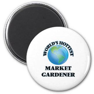 World's Hottest Market Gardener Fridge Magnet