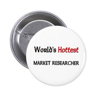 Worlds Hottest Market Researcher 6 Cm Round Badge