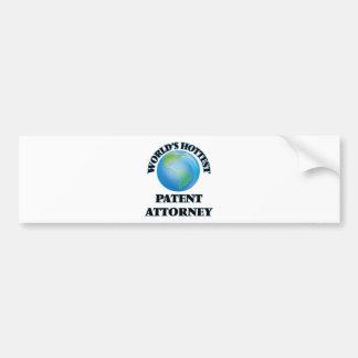 World's Hottest Patent Attorney Bumper Sticker