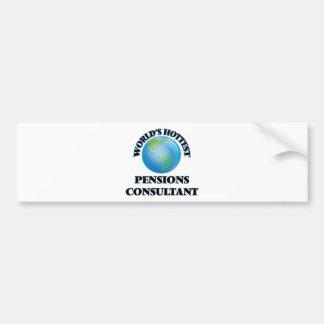 World's Hottest Pensions Consultant Bumper Sticker
