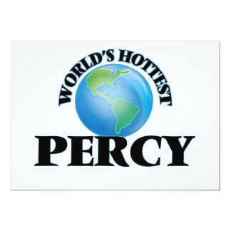 "World's Hottest Percy 5"" X 7"" Invitation Card"