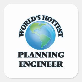 World's Hottest Planning Engineer Square Sticker