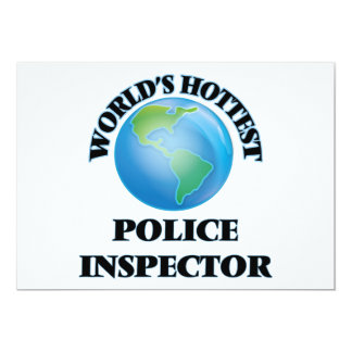 World's Hottest Police Inspector Personalized Invitations