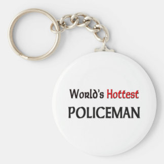 Worlds Hottest Policeman Key Ring