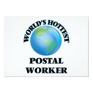 "World's Hottest Postal Worker 5"" X 7"" Invitation Card"