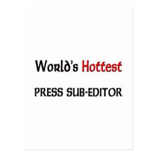 Worlds Hottest Press Sub-Editor Postcard