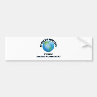 World's Hottest Public Affairs Consultant Bumper Sticker