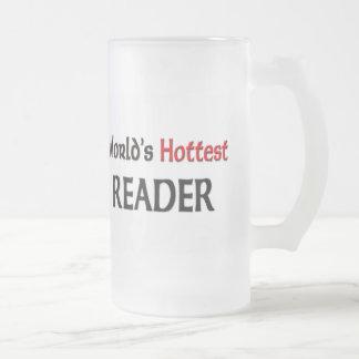 Worlds Hottest Reader Frosted Glass Beer Mug