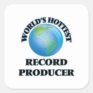 World's Hottest Record Producer Square Sticker