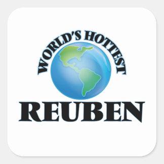 World's Hottest Reuben Square Stickers