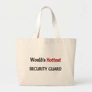 Worlds Hottest Security Guard Large Tote Bag