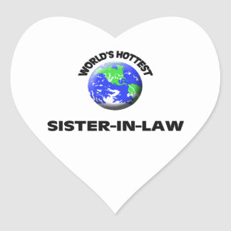World's Hottest Sister-In-Law Heart Sticker