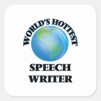 World's Hottest Speech Writer Square Stickers