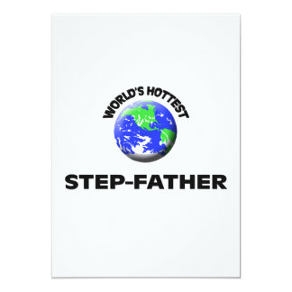 World's Hottest Step-Father 13 Cm X 18 Cm Invitation Card