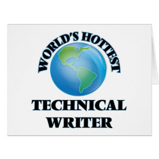 World's Hottest Technical Writer Card