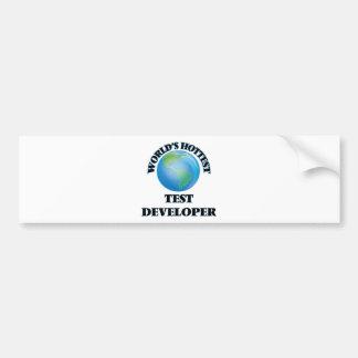 World's Hottest Test Developer Bumper Stickers