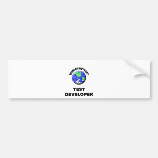 World's Hottest Test Developer Bumper Sticker