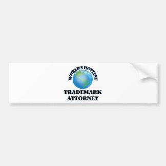 World's Hottest Trademark Attorney Bumper Sticker