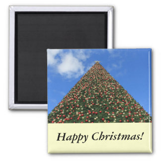 World's Largest Christmas Tree Square Magnet