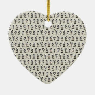 Worlds Largest Knitting Sheep Competition Ceramic Heart Decoration