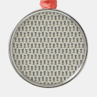 Worlds Largest Knitting Sheep Competition Silver-Colored Round Decoration