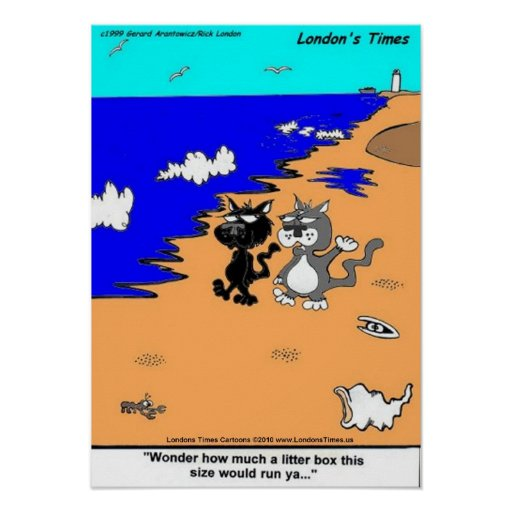 World's Largest Litter Box Funny Art Posters Posters