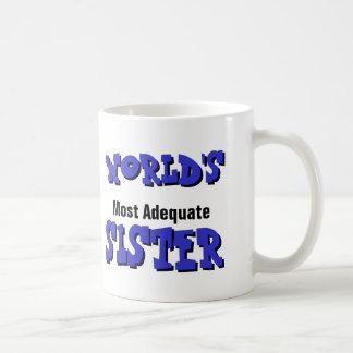 World's Most Adequate Sister Mug