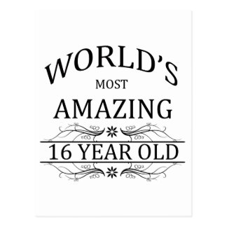 World's Most Amazing 16 Year Old. Postcard