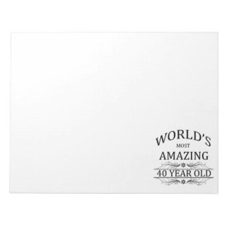 World's Most Amazing 40 Year Old Notepad