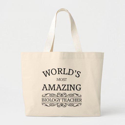 World's most amazing Biology Teacher Canvas Bag